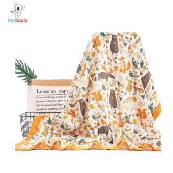 EezKoala 6 capas 100% algodón muselina bebé swaddl manta recién nacido Wrap hamaca Swaddling acolchado Nubble Wraps Toalla de baño
