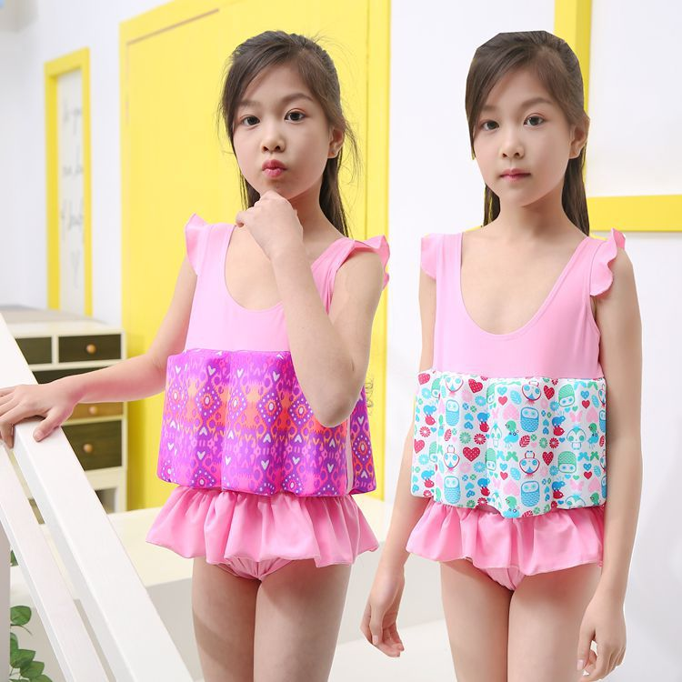 New Style CHILDREN'S Buoyancy Swimsuit GIRL'S Korean-style One-piece Girls Floating Swimwear Baby Infants Tour Bathing Suit