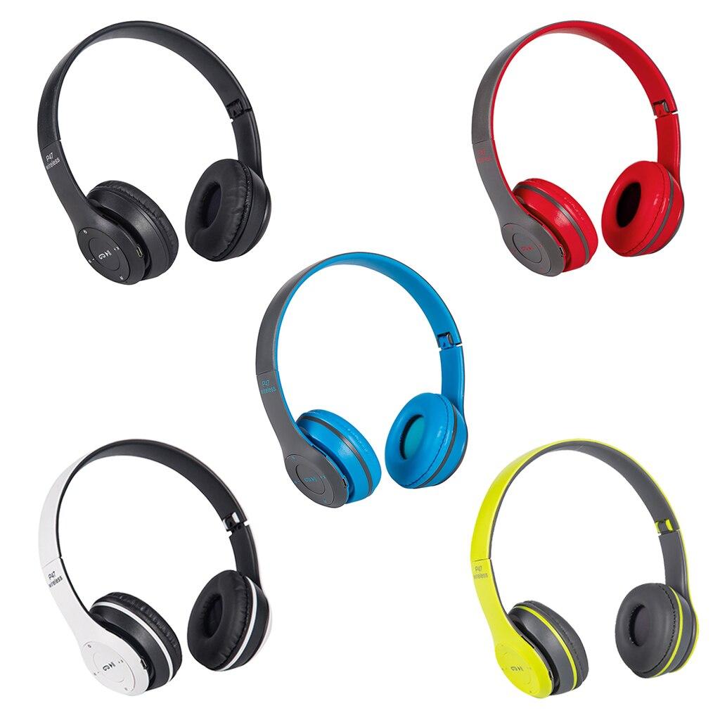 На головке Беспроводной связанные при помощи Bluetooth наушники-вкладыши наушники стерео наушники для Складная Шум снижение игровая гарнитура