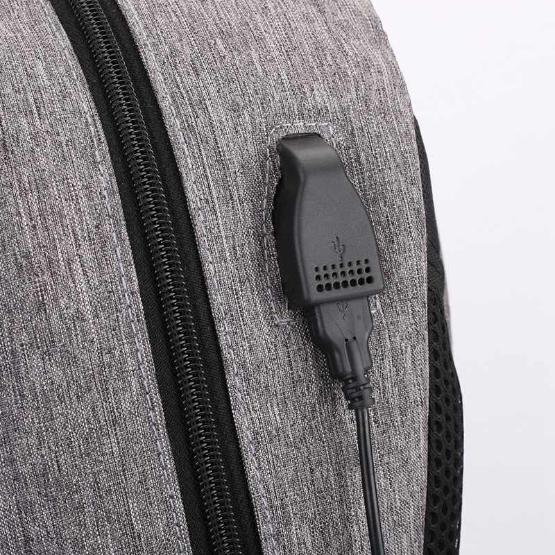 עמיד למים תרמיל נער נגד גניבת תרמיל עם USB שקע תלמיד 16 אינץ בית ספר מחשב נייד עסקי תיקי נסיעות תרמיל