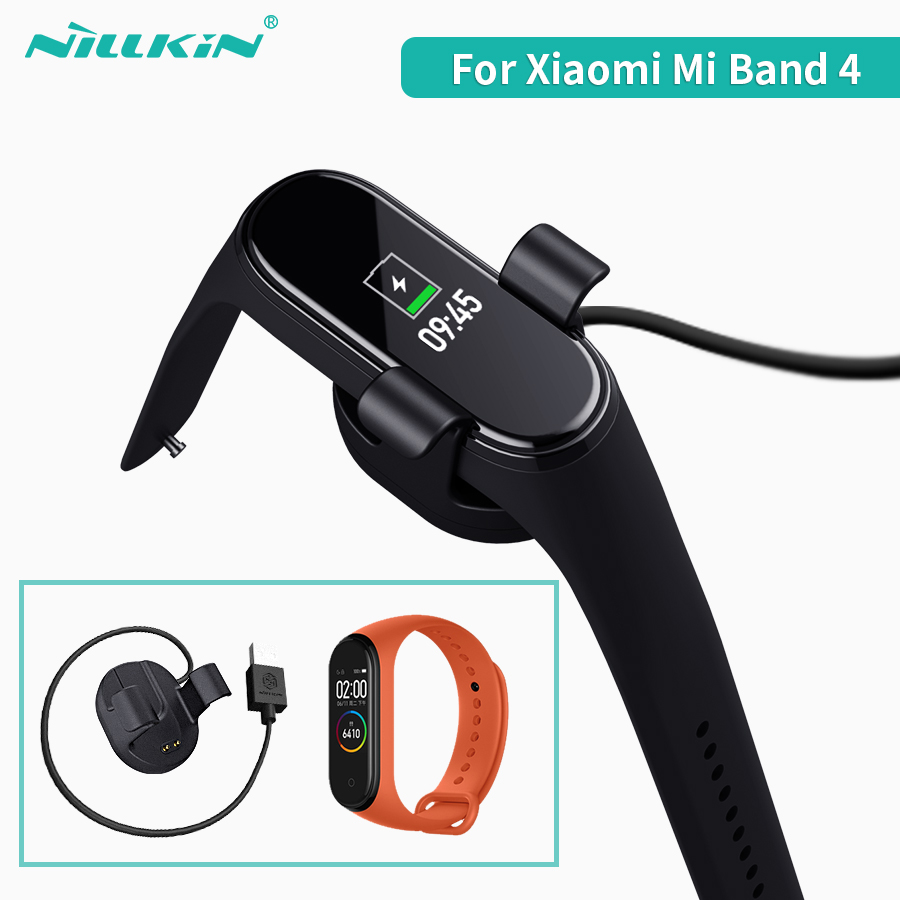 Charger For Xiaomi Mi Smart Band 4 Miband 4 global Charging Cable NILLKIN USB 30cm charger Cable for xiaomi band 4-in Mobile Phone Chargers from Cellphones & Telecommunications