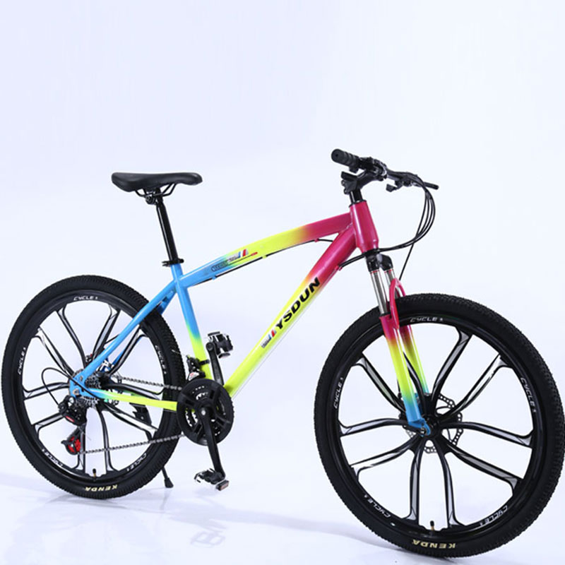 Mountain Bike Man Student One Round Ten Knife Youth Racing Women Speed Double Disc Brakes Shock Off Road Adult Bicycle