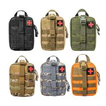 Survival Pouch Emergency Kit Large Size Outdoor Camouflage SOS Package Tactical First Aid Bag Travel Oxford Cloth Molle Pouch
