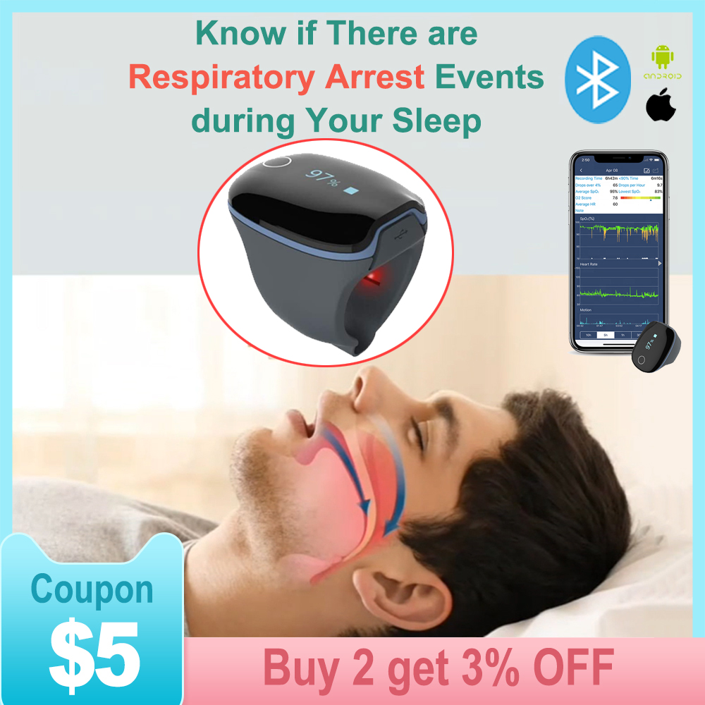 Rechargeable All night sleep monitoring Alarm functions bluetooth pulse oximeter finger oximetro de dedo pulso pulsioximetro