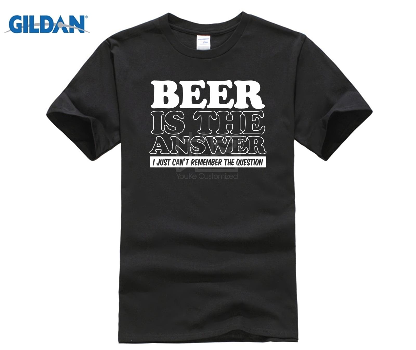 Biere Is The Answer Drole T-Shirt Pour Hommes Papa Fete Des Peres CAMRA Real Ale Summer Style Hip Hop Men T Shirt Tops