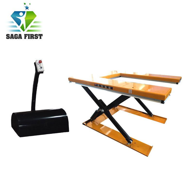 1000kg U Shape Scissor Lift Hydraulic Pallet Lift Table