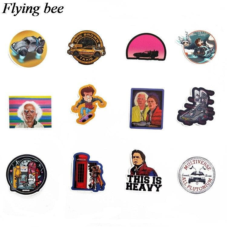 טלוויזיות 25 29 Flyingbee 57 יח חוזר מדבקות בעתיד מדבקות Waterproof עבור חדר שנת מדבקות מדבקות מחשב נייד רכב החפץ קישוט X0701 (4)