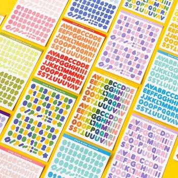 6 листов наклейки на Алфавит самоклеющиеся наклейки на буквы