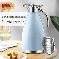 1.5L/2L絶縁ケトル304ステンレス鋼大容量の家庭用熱コーヒー茶断熱ポットポータブル熱ケトル