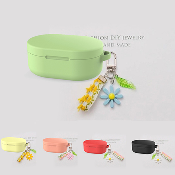 Redmi Airdots for Xiaomi Redmi Airdots TWS Mi True Headphones Case flower keyring Silicone Protection Cases image