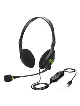 USB Headset With Microphone Noise Cancelling Computer PC Headset Lightweight Wired Headphones For PC /Laptop/Mac/ School/Kids