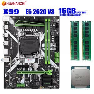 HUANANZHI X99 motherboard with XEON E5 2620 V3 2*8G DDR4 2400Mhz REGECC memory combo kit set NVME USB3.0 MATX Server