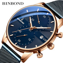 Binbond Armbanduhr Mode Ultra-dünne Automatische Business Männer Uhren Top Marke Luxus 30M Wasserdicht männer Einfache Quarz uhr