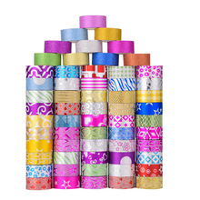 60pcs Glitter Masking Tapes Set Star Love Flower Gold Color Adhesive Washi Tape 15mm Journal Diary Album Sticker Decoration F092