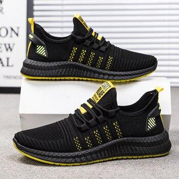 цена 2020 Fashion Sneakers for Men Casual Shoes Lightweight Breathable Male Footwear Walking Mesh Shoes Male Drop Ship Zapatos Hombre онлайн в 2017 году