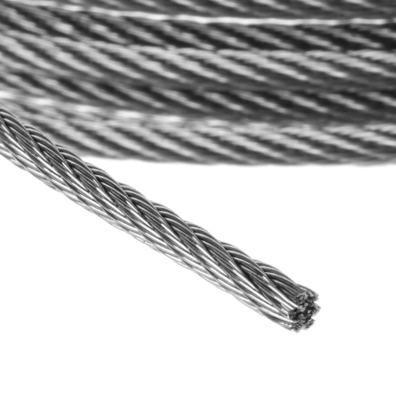 304 Stainless Steel Wire Rope Cable Flexible 0.5mm 1mm 1.5mm 2mm 2.5mm 3mm 4 mm
