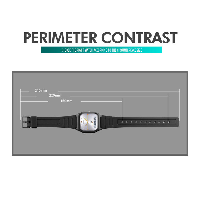 Simple Electronic Quartz Watch Sports Multifunction Fashion Outdoor Youth Watch Treasured Design Presents Wristwatches Armband