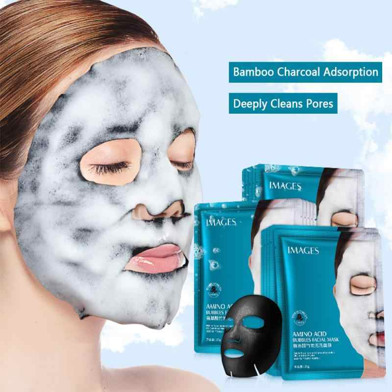 1pcs Original Skin Care Moisture Face Bubble Mask Facial Mask Amino Acid 25g Deep Purifying Charcoal หน้ากาก TSLM1