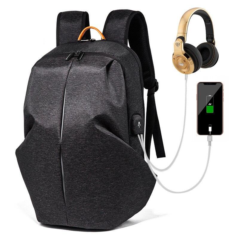 Hip hop sac à dos mode hommes sac étanche pour ordinateur portable loisirs sport voyage sac à dos étudiant sac cartable veilleuse bande