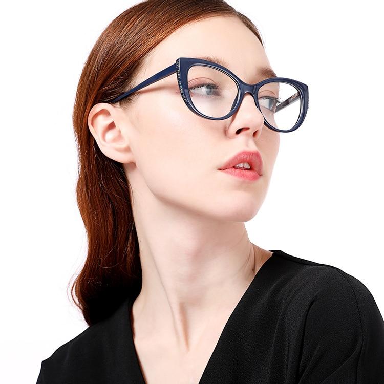 Очки lonsy в стиле ретро с бриллиантами для чтения «кошачий