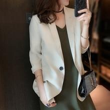 Women Solid Elegant Blazer Autumn Spring Office Lady Outerwe