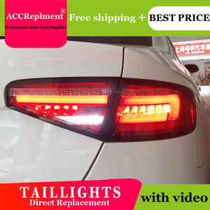 Image 2 - Car Styling LED Tail lights For Audi A4 2013 2016 Taillight LED Running light + Dynamic Turn Signal + Reverse + Brake A Set