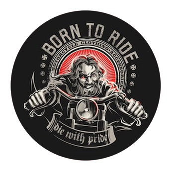 rider born to ride madman Motorcycle moto car sticker decal image