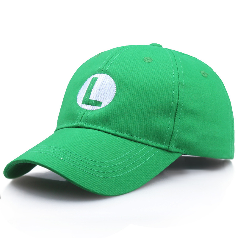 Super Mario Odyssey Cosplay Hat Luigi Bros Baseball Caps Anime Accessories Women Men Halloween Gifts Mario Cap Wholesale
