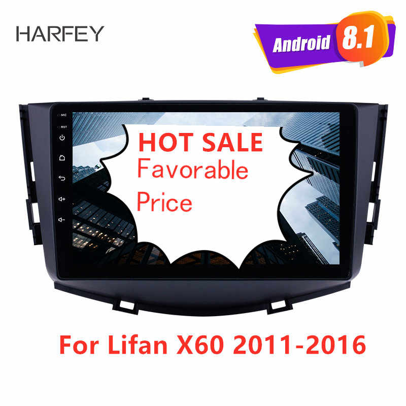Harfey 9 ''Android 8,1 HD сенсорный экран GPS навигация автомобильное радио для Lifan X60 2011-2016 с Bluetooth wifi AUX поддержка Carplay