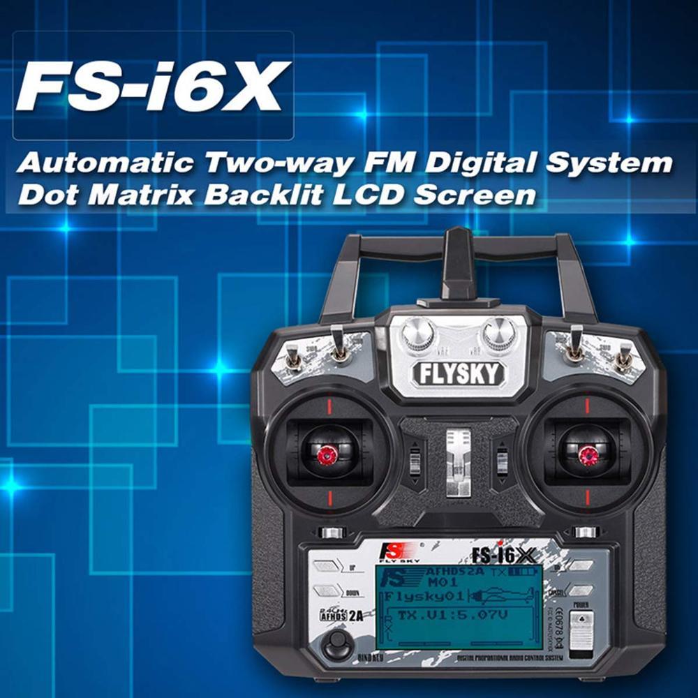 Flysky FS i6X FS I6X 2.4G RC Transmitter Controller 10/6CH iA10B หรือ iA6B ตัวรับสัญญาณ i6 อัพเกรดสำหรับ RC เฮลิคอปเตอร์ Multi rotor drone-ใน ชิ้นส่วนและอุปกรณ์เสริม จาก ของเล่นและงานอดิเรก บน   1