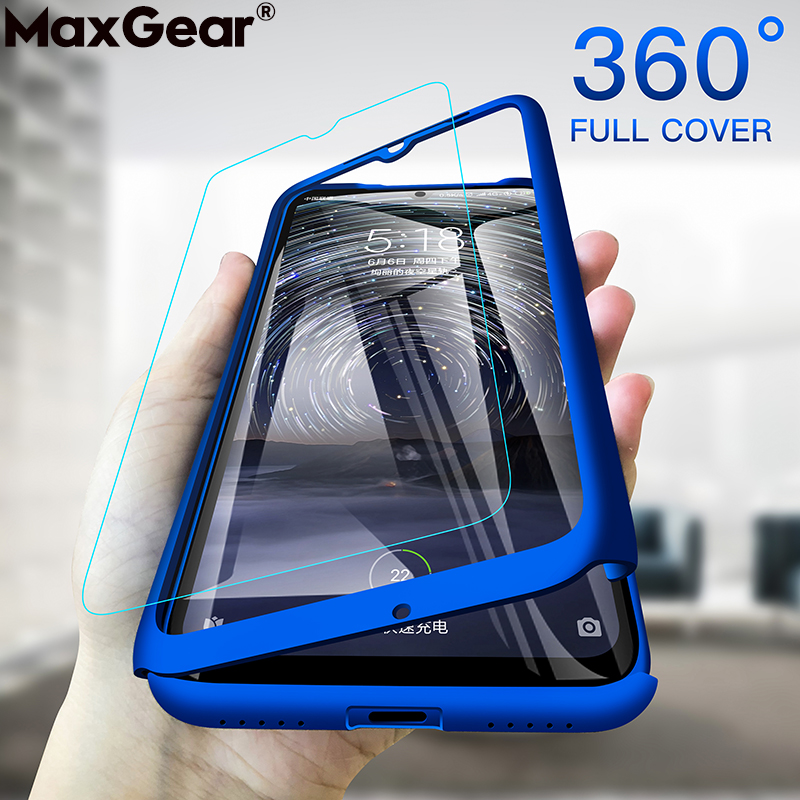 360 Full Cover Protective Case For Xiaomi Mi 8 Lite A2 6 5S Plus Note 3 Max 2 Mix Play Mi A3 5X 6X F1 Hard Slim Thin Funda Glass(China)