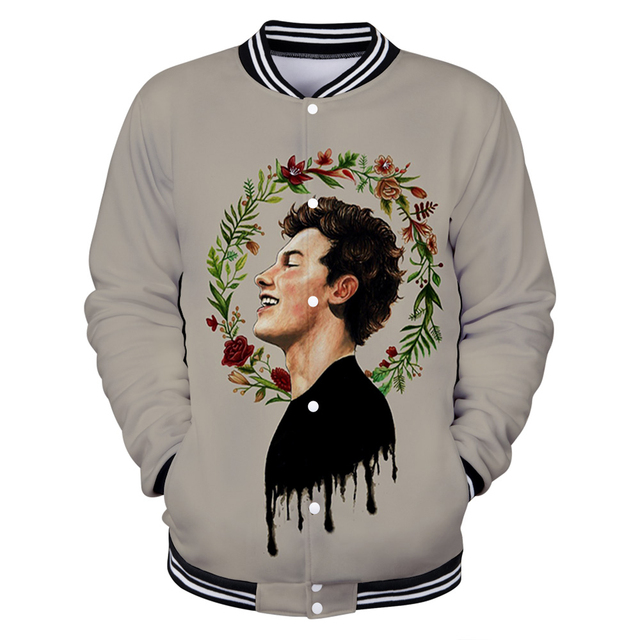 SHAWN MENDES THEMED 3D BASEBALL JACKET