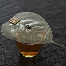 Nowa kuchnia Teaism akcesoria stolik do herbaty ceremonia herbaty wystrój sitka do herbaty siatka do herbaty Bodhi liść liść herbaty filtr sitko do herbaty