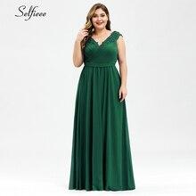 Women Summer Dress Plus Size Elegant A Line V Neck Off Shoulder Long Chiffon Appliques Lace Party Dress 2020 Vestidos Robe Femme