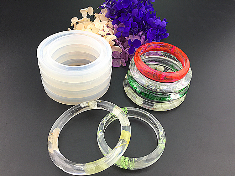 Popular1PC Soft Silicone Jewerly Mould Epoxy Bracelet Bangle Mold Hand Resin Craft Jewelry Making Mold