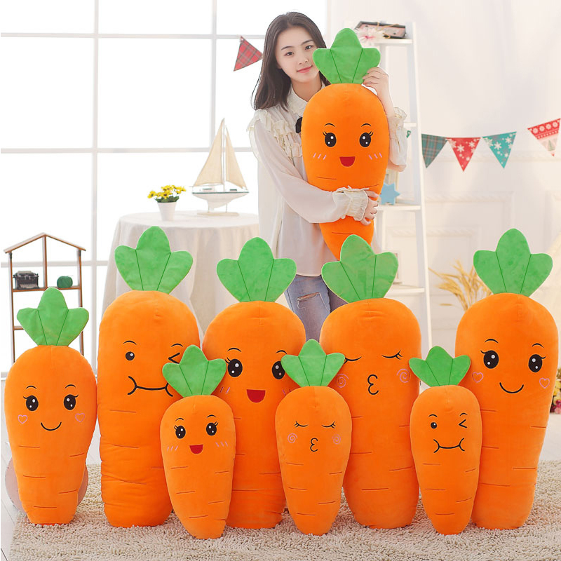 60/78/100cm Cute Soft Down Cotton Carrot Pillow Plush Toy Baby Kids Appease Sleeping Pillow Doll Animal Stuffed Plush Toy Gifts