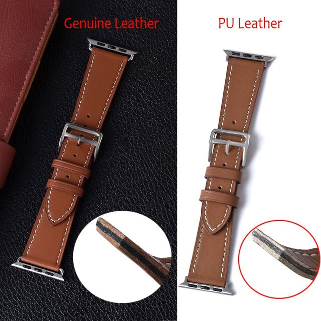 100% Genuine Cow Leather loop Bracelet Belt Band for Apple Watch 6 SE 5 4 42MM 38MM 44MM 40MM Strap for iWatch 6 5 4 Wristband 4