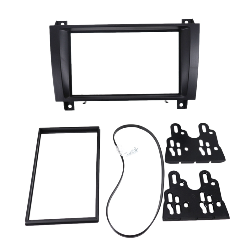 Car Stereo Dash Kit Radio Fascia DVD Panel 2Din Frame Kit for MERCEDES BENZ SLK Class (R171) 2004 2011|Interior Door Panels & Parts| |  - title=