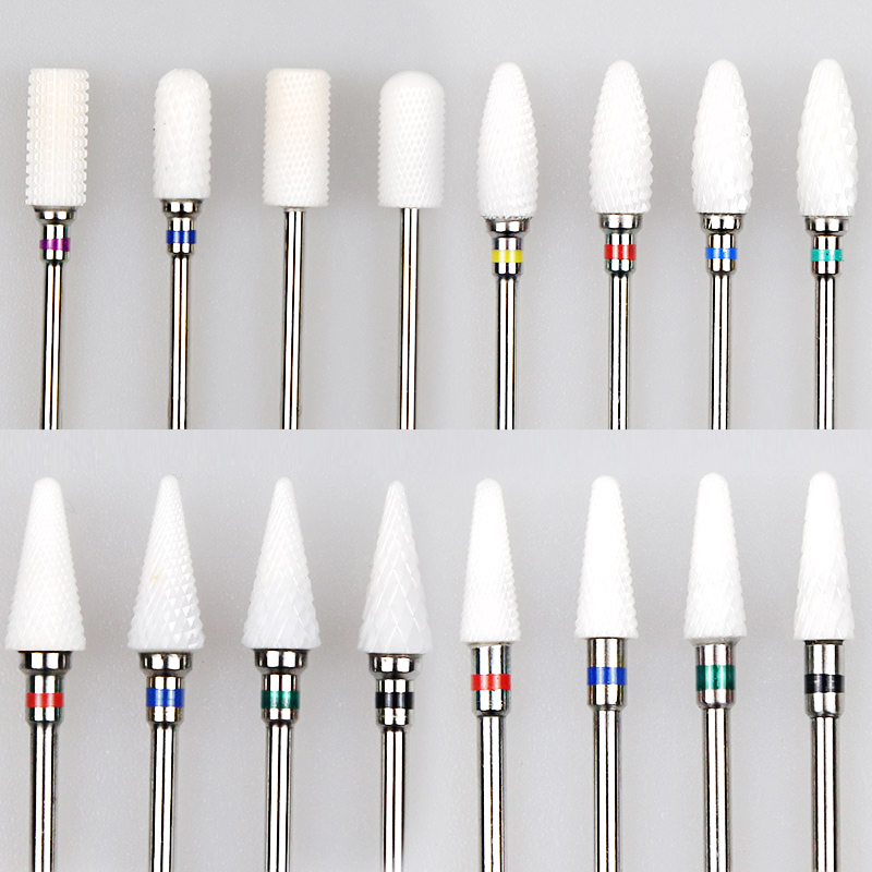 Ceramic Cutter Nail Drill Bit Ceramic Cutters For Manicure Machine Cutter For Manicure Milling Cutter For Nail Art Tool