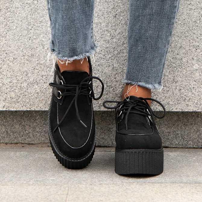 Năm 2020 Thời Trang Dây Leo Đế Bằng Nữ Punk Giày Đế Người Phụ Nữ Hoa Văn Ngựa Vằn Da Lộn Giày Đế Bằng Nữ Giày Zapatos De Mujer