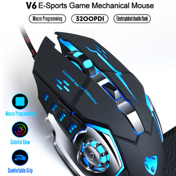 3200dpi 6 button wired pro gaming mouse optical gamer mouse hifi pro gaming headphone headset gaming mouse pad gift Wired Gaming Mouse Professional Gamer Mouse Mice 6 Buttons 3200DPI Computer Programmable Mouse USB Optical For Laptop Desktop