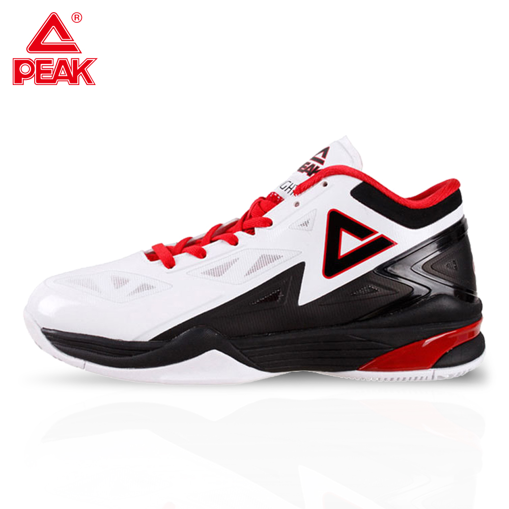 PEAK Men's Basketball Shoes Breathable Cushioning Non-Slip Wearable Sports Shoes Gym Training Athletic Basketball Sneakers