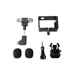 Image 4 - Profesional Mini Stereo Microphone + Standard Frame Case for Gopro Hero 4 3+ 3 USB to 3.5mm Mic Adapter Cable Cord Accessories
