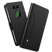 for Razer Phone 2 Case Luxury Matte PU Leather with Mirror and Kickstand Flip Stand Wallet Cover For Card
