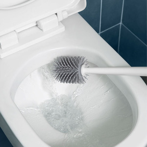 Image 4 - Щетка для туалета Youpin YJ, вертикальный набор из мягкой клеевой щетины, с подставкой для уборки туалета xiaomi