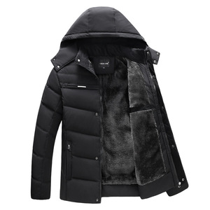 Image 4 - Fashion Parka Men Jacket Coats Thicken Warm Winter Jackets Casual Men Parkas Hooded Outwear Cotton padded Jacket Clothes Winter