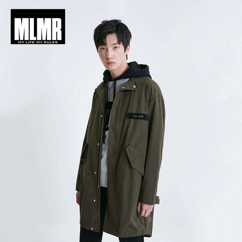JackJones MLMR Men's Fashion Mid-length Letter Print Parka Coat Menswear Streetwear| 219121543