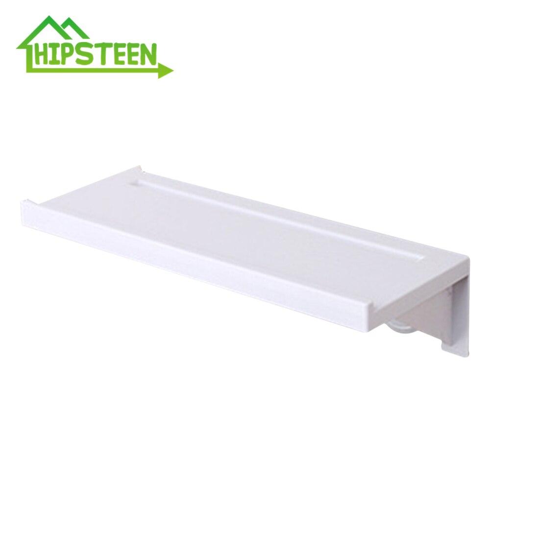 Creative Adhesive Storage Rack Wall Shelf Sundries Holder Bathroom Organizer Hooks On The Wall   Non Trace Stick Type White|Storage Holders & Racks| |  - title=