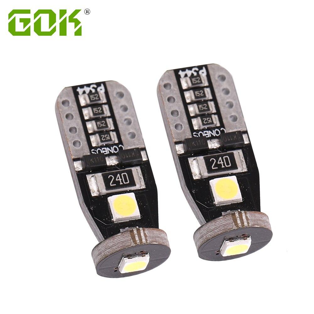 В переменного тока, 50-500 шт. T10 светодиодный Белый 3SMD 3030 светодиодный автомобильный светильник w5w 194 168 CANBUS Ошибок Лампы 12V Клин лампы сигнала п...