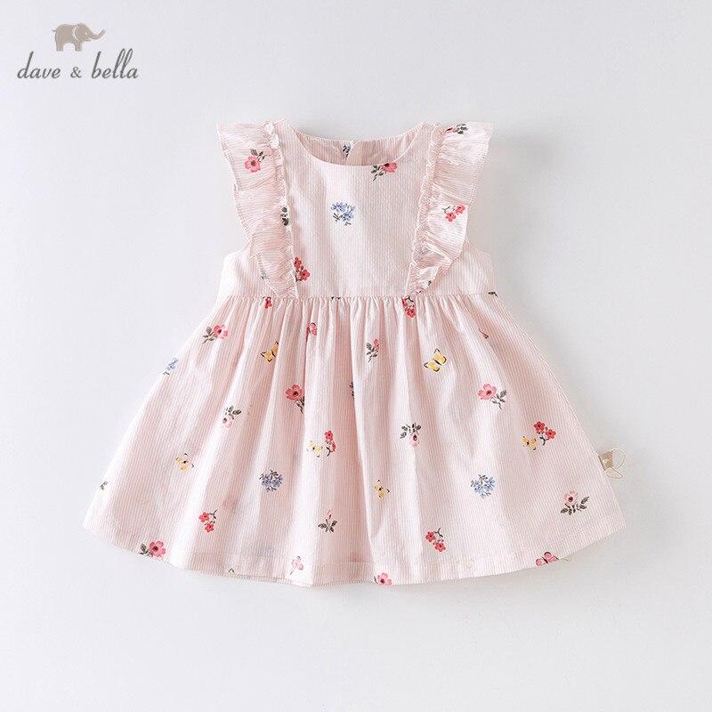 Dave bella/DBZ14162 летнее платье в полоску с цветочным принтом для маленьких девочек, модные вечерние платья для детей, детская одежда в стиле Лолита|Платья| | АлиЭкспресс